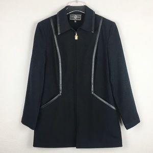 St John Sport | Black Full Zip Jacket | Size P